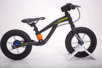 Велобіг від беговел HAMMER HS-1 Магнієва рама і вилка колеса 12 дюймів чорний, фото 1