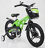 Велосипед двухколесный детский MARS-16 дисковый тормоз колеса 16 дюймов зеленый