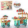 Детский игровой набор интерактивная кухня кафе на колесах