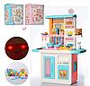 Дитячий ігровий набір інтерактивна кухня велика 688-1-2 плита, духовка миття посуд продукти звук, світло