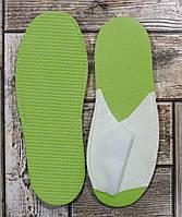 """Одноразові капці """"Економ"""" для СПА, зелені (20 пар/уп), фото 1"""