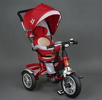 Велосипед коляска детский трехколесный Best Trike 5688 на надувных колесах / красный