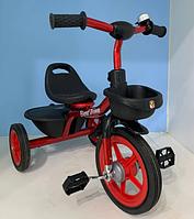 Дитячий триколісний велосипед Best Trike BS-1788 на гумових колесах / колір червоний