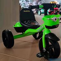 Детский трехколесный велосипед Best Trike 19593 на пено колесах EVA со светом и звуком / цвет зеленый
