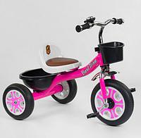 Детский трехколесный велосипед для девочки Best Trike LM-2806 на пено колесах / цвет розовый