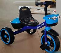 Детский трехколесный велосипед Best Trike 32102 на пено колесах EVA со светом и звуком / цвет синий