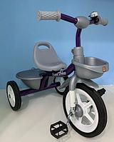 Детский трехколесный велосипед Best Trike BS-4298 на резиновых колесах / цвет серый