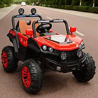 Детский двухместный электромобиль Джип Багги 4WD T-7840 на EVA колесах / красный