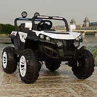 Детский двухместный электромобиль Джип Багги 4WD T-7840 на EVA колесах / белый