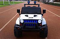 Детский двухместный электромобиль на управлении Джип Jeep T-7843 на EVA колесах с MP3 / белый