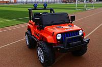 Детский двухместный электромобиль на управлении Джип Jeep T-7843 на EVA колесах с MP3 / красный