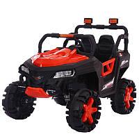 Детский двухместный электромобиль на управлении Джип 4WD T-7844 на EVA колесах с MP3 / красный