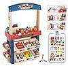 Детский игровой набор магазин прилавок большой 668-75 продукты сладости касса сканер звук свет