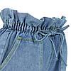 Шорти жіночі джинсові блакитні з високою талією і кишенями розмір L, фото 4