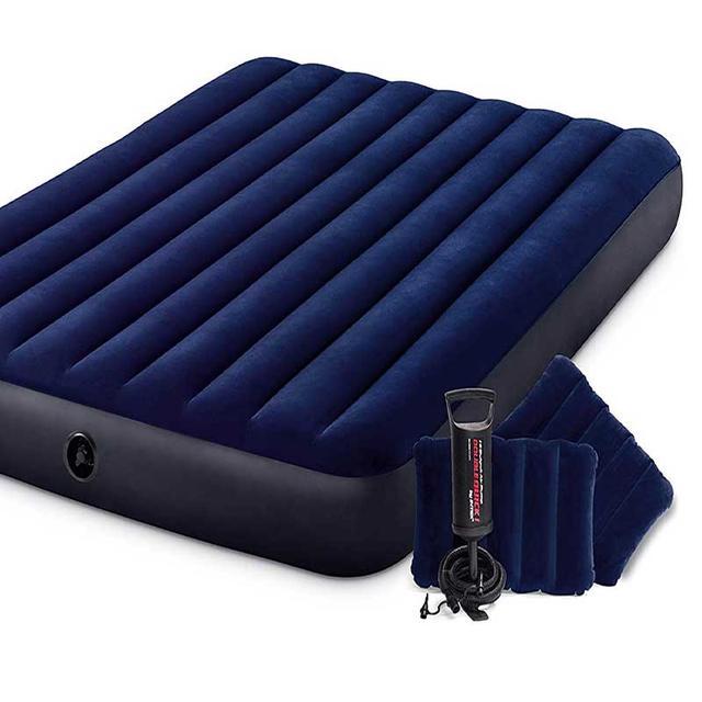 Надувной матрас Интекс 64765 с двумя подушками и насосом
