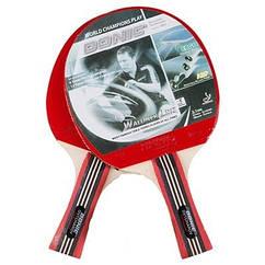 Ракетка для настольного тенниса Donic 33932, 2 шт + 3 шарика.