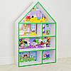 Будиночок стелаж, полиця для іграшок і книг PLK-B-7G Свинка Пеппа біло-зелений**