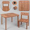 """Детский столик со стульчиком """"Happy Математика"""" деревянный"""