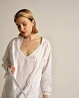 Халат с ночной рубашкой Maison Dor Aveedon Giselle хлопок белый