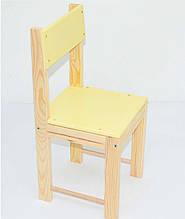 Стульчик детский ИГРУША 25 Деревянный Желтый 2-25-18838-2, КОД: 1291871
