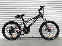 """Спортивный велосипед TopRider 611 колёса 20д / Shimano / рама стальная 13"""" / черно-красный, фото 1"""