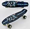 Скейт Пенни борд Best Board P 13780 алюминиевая подвеска и антискользящая поверхность / цвет синий