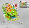 Детский шезлонг-качалка каталка Fitch Baby 88962 / дуга с игрушками / музыка и вибрация / цвет салатовый