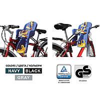 Велокресло детское TILLY Mini T-812 / нагрузка до 15 кг / Серое Черное Бирюзовое