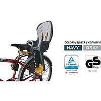Велокресло детское TILLY Safe Road T-832 / нагрузка до 22 кг / Устанавливается сзади / Серо Бирюзовое