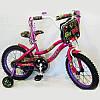 Велосипед детский двухколесный NEXX GIRL-16 колеса 16 дюймов малиновый
