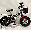 Дитячий двоколісний велосипед MARS-12 колеса 12 дюймів магнезиевая рама чорний