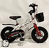 Дитячий двоколісний велосипед MARS-12 колеса 12 дюймів магнезиевая рама білий