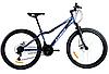Спортивный горный велосипед AZIMUT FOREST колеса 24 дюйма FRD / дисковые тормоза / синий