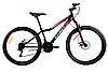 Спортивный горный велосипед AZIMUT FOREST колеса 24 дюйма FRD / дисковые тормоза / черно-красный
