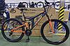 Спортивный горный велосипед AZIMUT POWER колеса 24 дюйма FRD / с амортизатором / оранжевый