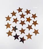 Декор бумажный Звезды 32 мм золото 50шт/уп
