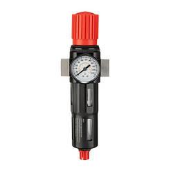 """Фільтр для очищення повітря з редуктором 1/2"""", 5мкм, 2500 л/хв, метал, професійний INTERTOOL PT-1418"""