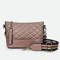 Жіноча рожева сумка натуральна шкіра маленька 5050