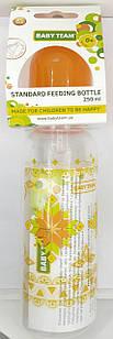 Бутылочка для кормления 250 мл с силиконовой соской, 0+/ Baby team, ар.1410