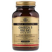 Омега-3, ЭПК и ДГК, Triple Strength, 950 мг, Solgar, 50 желатиновых капсул