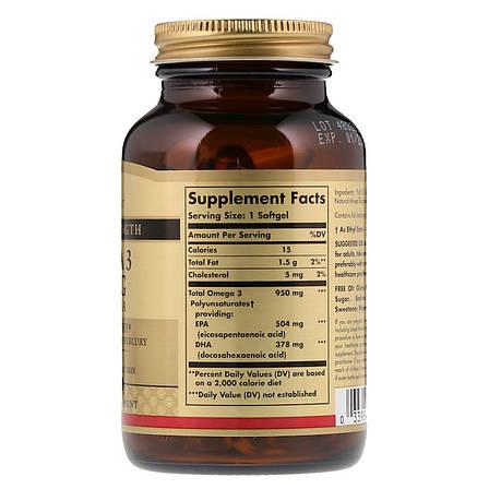 Омега-3, ЭПК и ДГК, Triple Strength, 950 мг, Solgar, 50 желатиновых капсул, фото 2