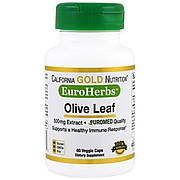 Оливковые Листья, Olive Leaves, California Gold Nutrition, 500 мг, 60 капсул