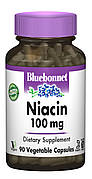Ниaцин (В3) 100мг, Bluebonnet Nutrition, 90 гелевых капсул