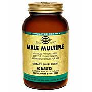 Мультивитамины для Мужчин, Male Multiple, Solgar, 60 таблеток