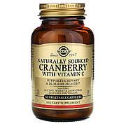 Натуральная клюква с витамином С, Solgar, 60 растительных капсул
