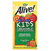 УЦЕНКА Мультивитамины для Детей, Alive, Nature's Way, Вкус Ягод и Апельсина, 120 жевательных таблеток (мятая