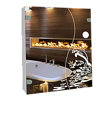 Шкаф-зеркало (60*70*14см) ШК813