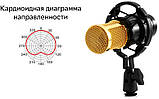 Мікрофон конденсаторний Protech BM-800 зі звуковою картою V8X pro і пантографом з вітрозахистом, фото 3