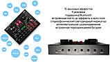 Мікрофон конденсаторний Protech BM-800 зі звуковою картою V8X pro і пантографом з вітрозахистом, фото 7