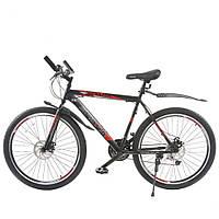 """Велосипед SPARK FORESTER 26"""" ст 20"""" чорно-червоний (безкоштовна доставка)"""